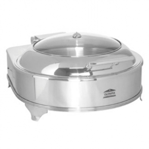 Olympia Electric Chafer Round Glass Lid - 280watt