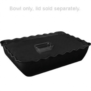 Kristallon Medium Salad Crock Black SAN - 2Ltr 260x175x85mm