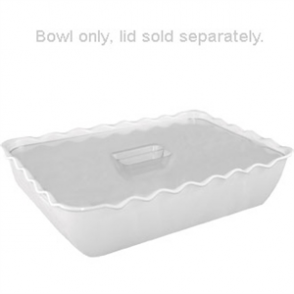 Kristallon Medium Salad Crock White SAN - 2Ltr 260x175x85mm