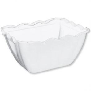 Kristallon Small Salad Crock White SAN - 0.75Ltr 165x135x85mm