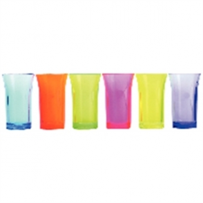 Mixed Colour shot Glasses 25ml CE (24pc)