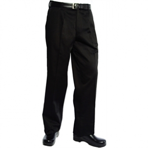 Executive Chefs Trousers - Black Herringbone