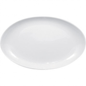 Olympia French Deep Oval Plate White 500mm (Sold Single)