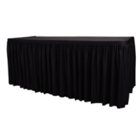 Table Top Black Cover & Skirting - Plisse Style 1820x740x750mm
