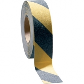 Grip Foot Hazard Black/Yellow Tape - 50mm x 18.3m