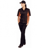 Colour by Chef Works Contrast Shirt - Black & Orange
