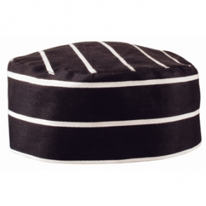 Black Butchers Stripe Skull Cap