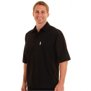 Cool Vent Chefs Shirt - Black
