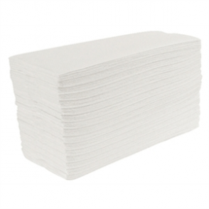 White C Fold Hand Towels