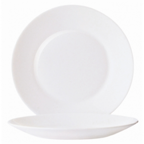 Arcoroc Opal Restaurant Wide Rim Plates 254mm (Box 6)