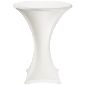 Jersey Stretch Table Cover - White