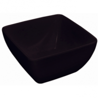 Curved Black Melamine Bowl 8in (Sold Single)