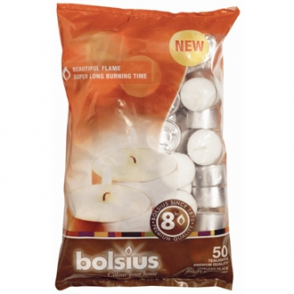 Bolsius 8 Hour Tealights 50 per bag