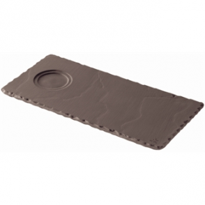 Revol Basalt Tray with Cup Indents 250mm (Box 6)