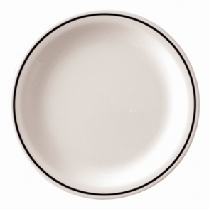 Kristallon Black Band Melamine Plates 230mm (Box 12)