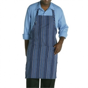Adjustable Neck Bib Apron Navy & Blue
