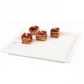 "White Square 9"" Melamine Tray"