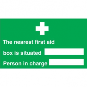 Nearest First Aid Box Sign