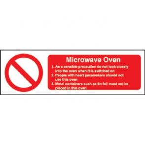 Microwave Oven Safety Sign