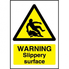 Warning Slippery Surface Sign
