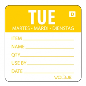 Vogue Orange Dissolvable Tuesday Labels (Pack of 250)