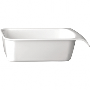 APS White 1/4GN Cascade Buffet Bowl