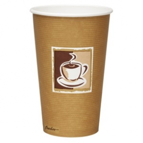 Bistro Single Wall Hot Cups 16oz (Box 1000)