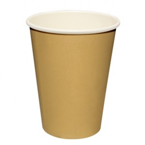 Fiesta Brown Single Wall Hot Cups 8oz (Box 50)
