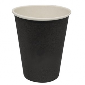 Fiesta Black Single Wall Hot Cups 8oz (Box 50)