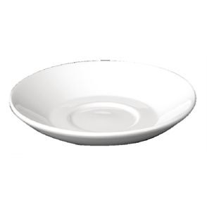 Churchill Plain Whiteware Small Saucers 140mm (Box 24)