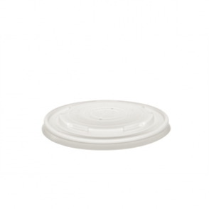 Vegware Compostable Soup/Ice Cream Container Lids 12/16oz (Box 500)