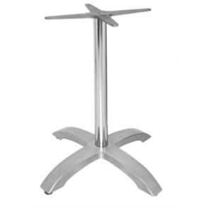 Bolero Brushed Aluminium 4 Leg Table Base