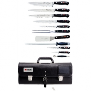 Dick Premier Plus 11 Piece Knife Set With Roll Bag