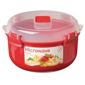 Klip It Round Microwave Bowl 915mls