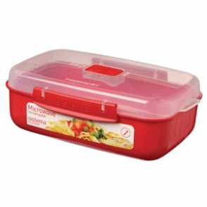 Klip It Rectangular Microwave Bowl 1.25ltr