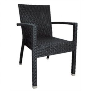 Bolero Wicker Armchair Charcoal (4 pack)