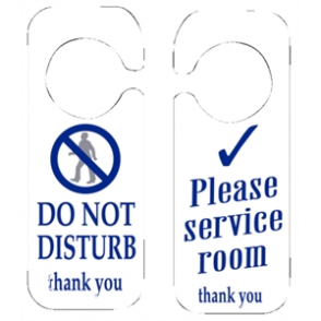 Do Not Disturb and Please Service Room Sign