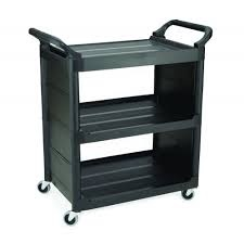Light Duty Service Utility Cart Black
