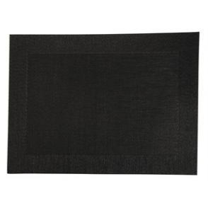 Woven PVC Black Table Mat (Box 4)
