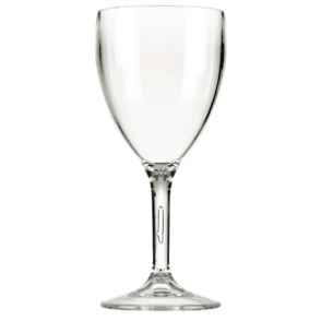 Polycarbonate Wine Glasses 310ml CE Marked at 175ml and 250ml (12PC)