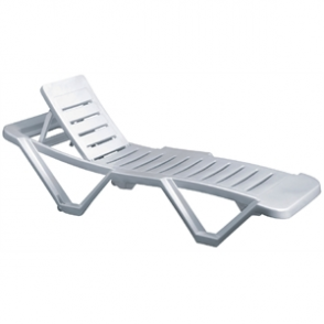 Resol Sun Lounger White (Pack of 2)