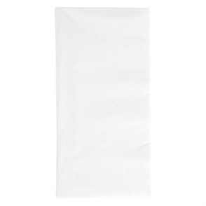 Duni Dinner Napkin 1/8 Fold 400mm White