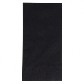 Duni Dinner Napkin 1/8 Fold 400mm Black