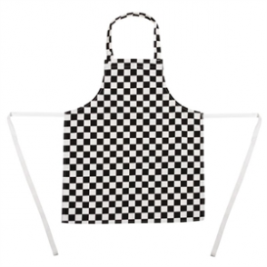 Whites Childrens Bib Apron Big Black and White Check