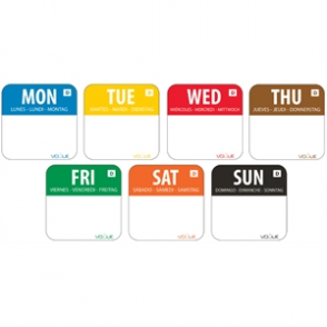 Dissolvable Food Rotation Label Kit (7 days)