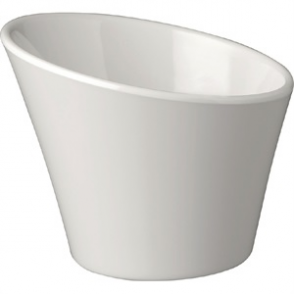 APS Casual Slanted Melamine Pot White 120mm