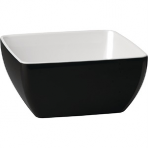 APS Pure Two Tone Bowl Melamine Black And White 250x 250mm