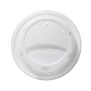 Barrier Hot Cup Domed Lids White 12oz (box 1000)