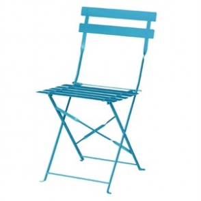 Bolero Seaside Blue Pavement Style Steel Chairs (Pack of 2)