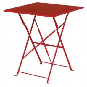 Bolero Red Pavement Style Steel Table Square